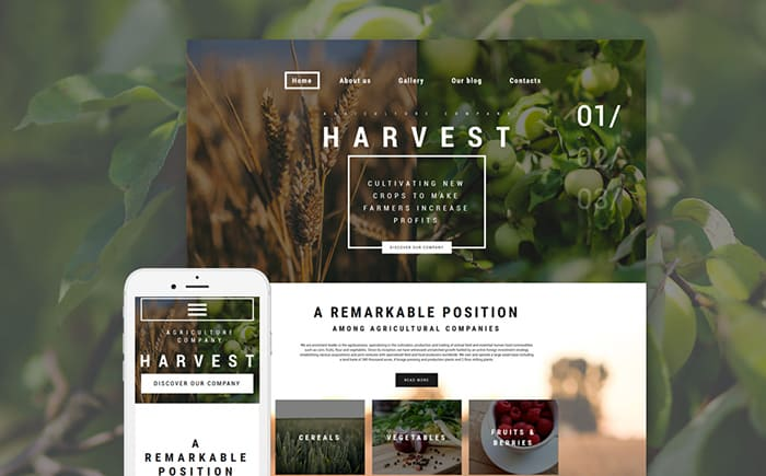 Farming and Agriculture WordPress Theme