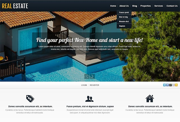 WordPress Themes for Real Estate Projects