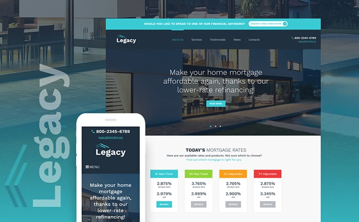 Home Mortgage WP Theme