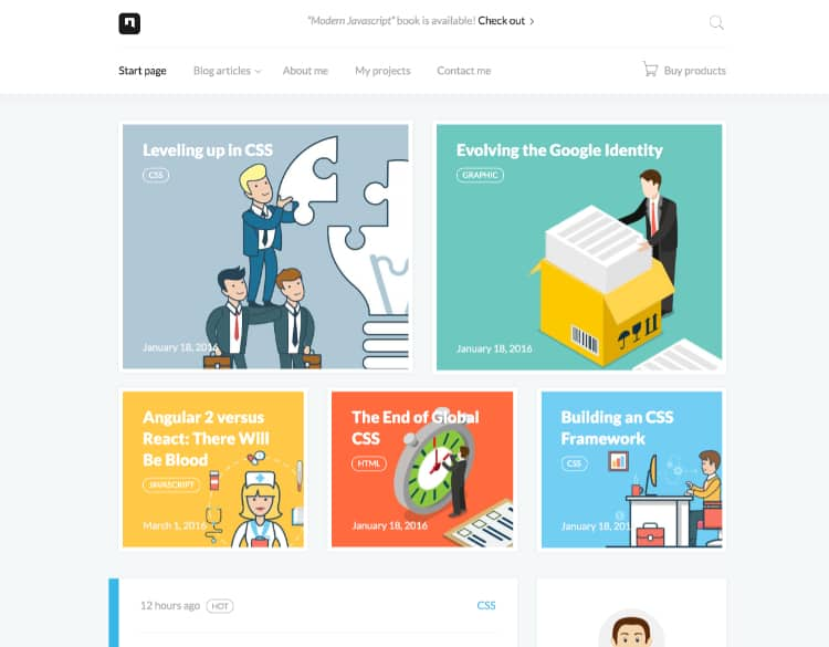 28+ Amazing Blog Website Templates for Personal and Corporate ...