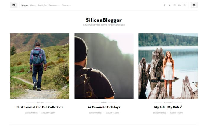 logger - Clean personal blog focused on readability WordPress Theme