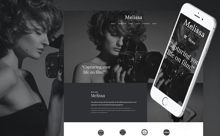 Melissa - Art & Photography & Photographer Portfolio WP Theme
