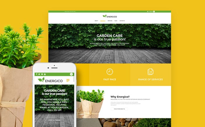 Energico - Agriculture & Garden Care Responsive WordPress Theme