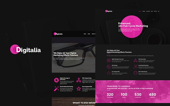 Digitalia - Digital Agency WordPress Theme