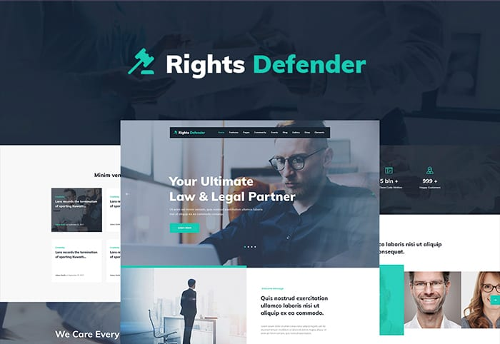 Rights Defender WordPress Theme