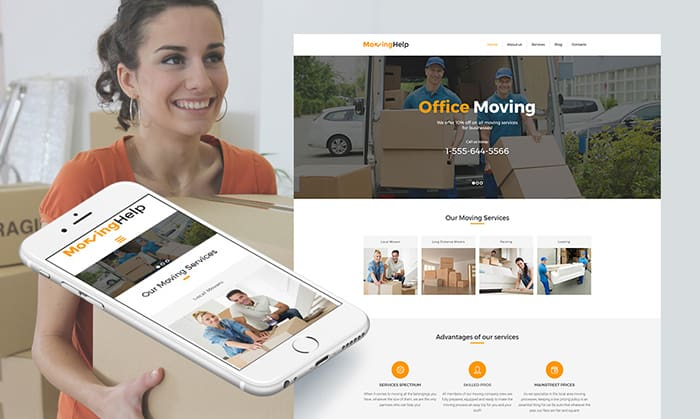 Moving Company Responsive Moto CMS 3 Template