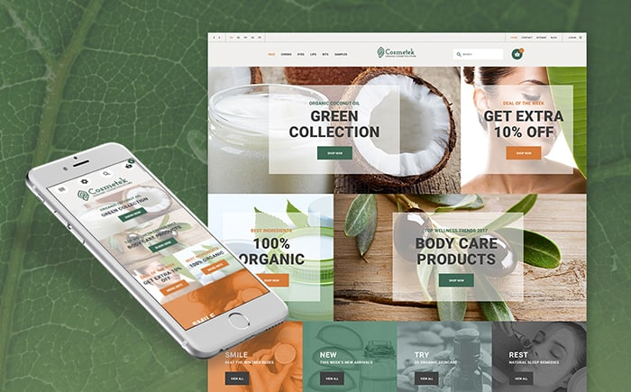 Organic Beauty Store PrestaShop Theme