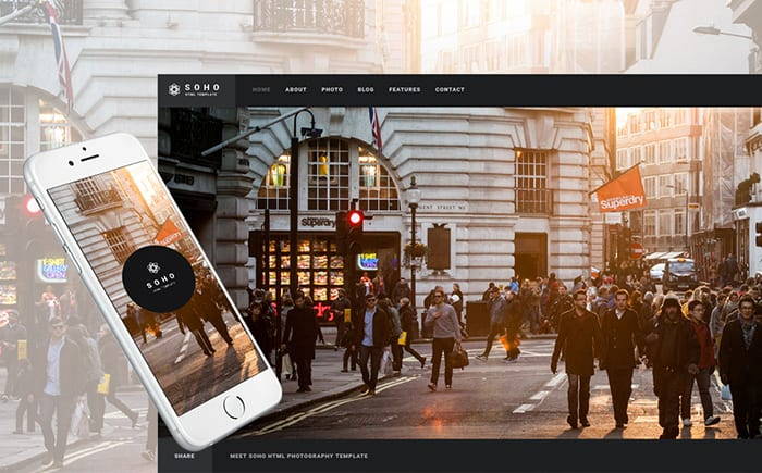 Soho - Photo Portfolio Website Template