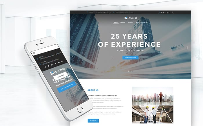 Architect Agency Portfolio WordPress Theme