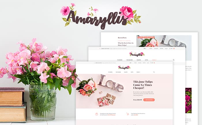 Amaryllis - Flower Shop WooCommerce Theme