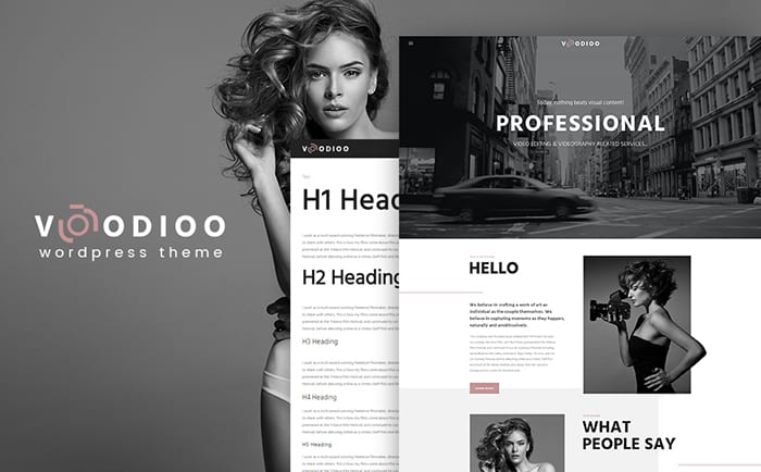 Voodioo - Videographer Responsive WordPress Theme