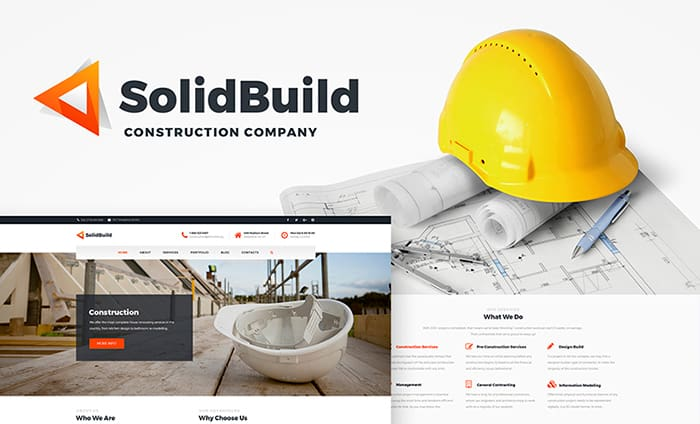 SolidBuild - Construction Company WordPress Theme