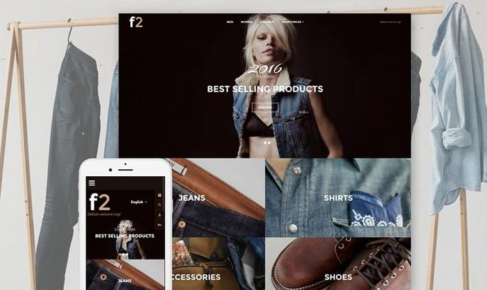 F2 - Fashion Boutique Responsive Magento 2 Theme