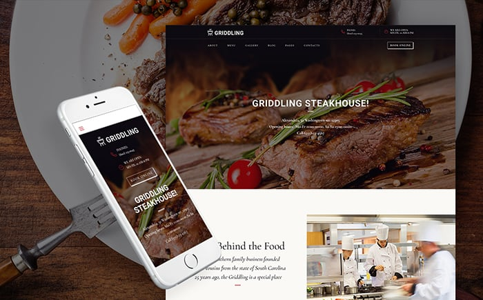 Meat & Barbecue Restaurant WordPress Theme