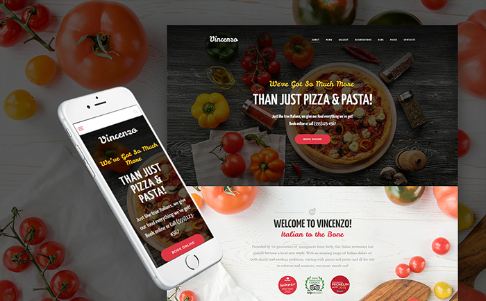 Vincenzo - Feature-Rich Pizza Restaurant