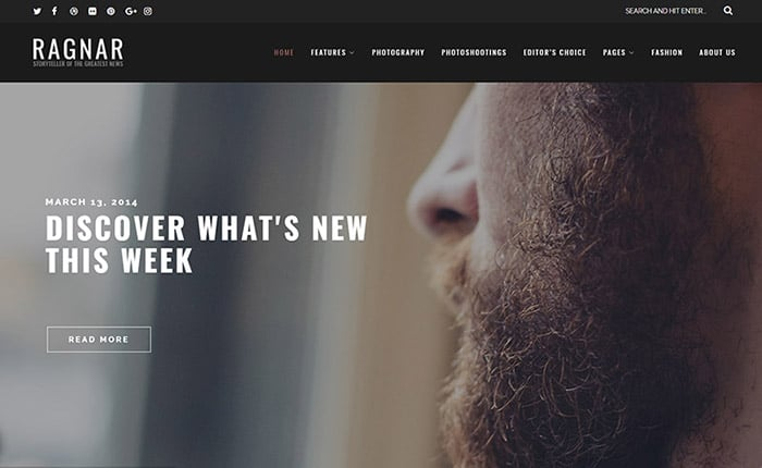 Ragnar - A Bold WordPress Theme