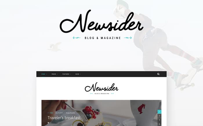 Newsider - Magazine & Blog Clean WordPress Theme