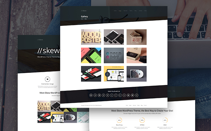 One page & Multipage Skew WordPress Theme