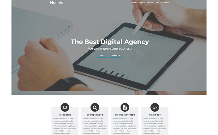 Neonix - Digital Agency WordPress Theme
