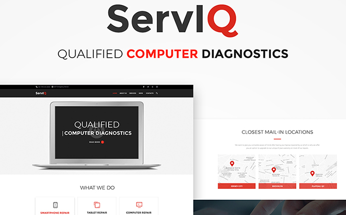 ServIQ Computer Repair Services WordPress Theme