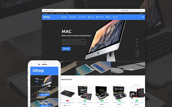 Electronic Shop Magento Theme