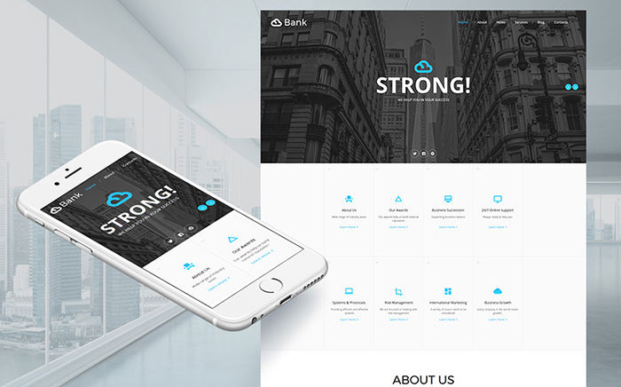 Bank Moto CMS HTML Template