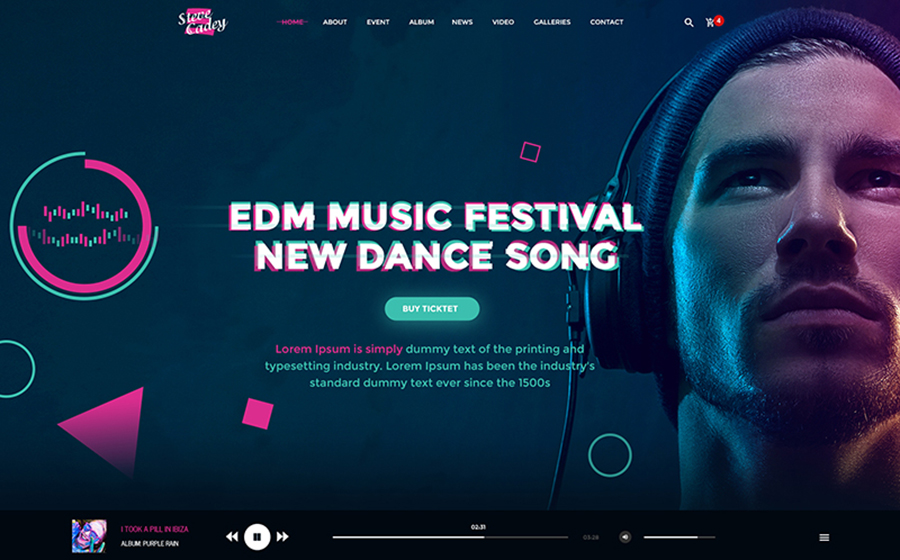 Steve Cadey - Modern & Stylish Music Event PSD Template