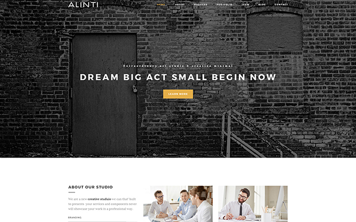 Alinti - Minimal Creative Portfolio WordPress Theme