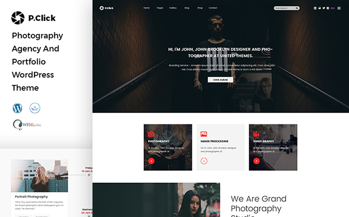 PClick Photography WordPress Theme