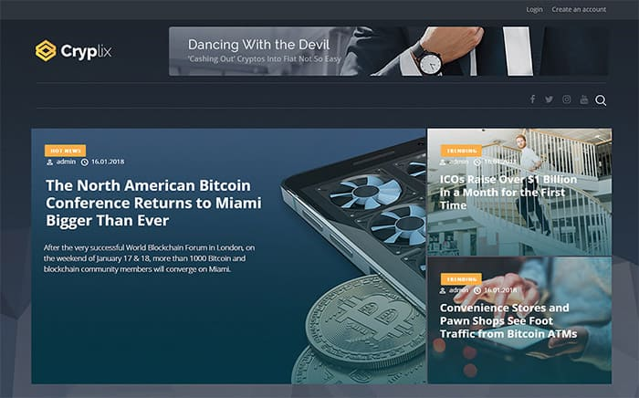 Cryplix - Bitcoin Blog WordPress Theme
