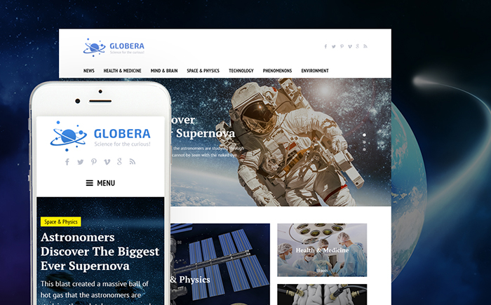 Science Magazine WordPress Theme
