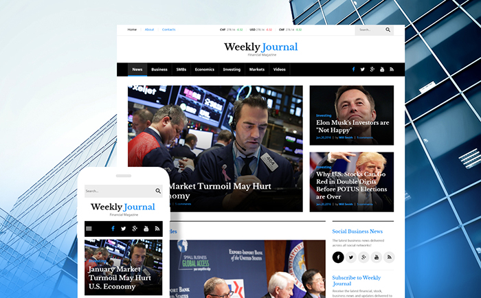 Financial Advisor Magazine WordPress Theme