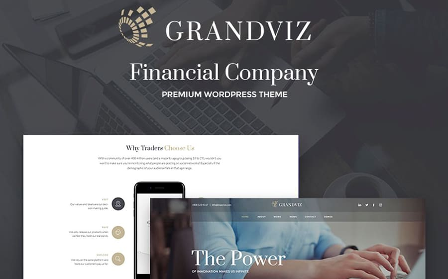 Grandviz - Financial Company Premium WordPress Theme