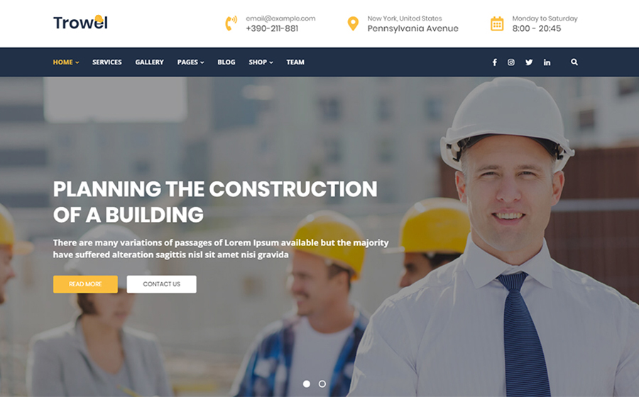 Trowel - Construction WordPress Theme