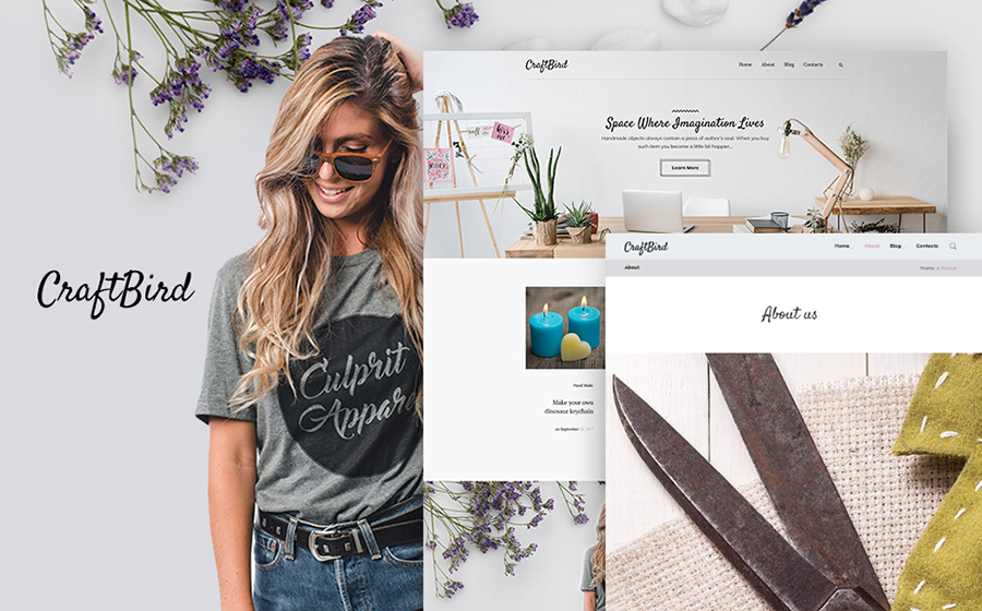 Handmade Artist Personal Blog WordPress Theme
