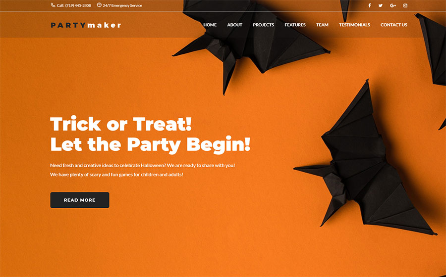 Halloween Party WordPress Theme