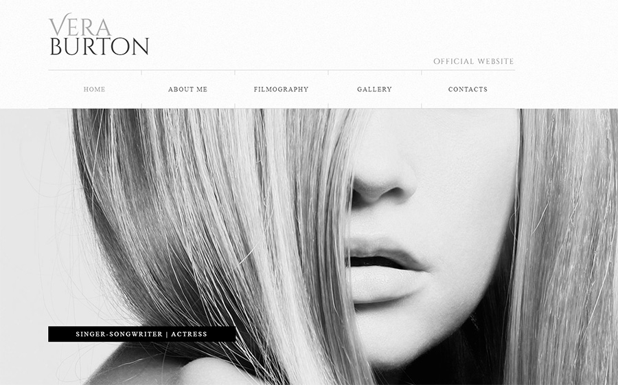 Actress Website Builder | Responsive Moto CMS 3 Template