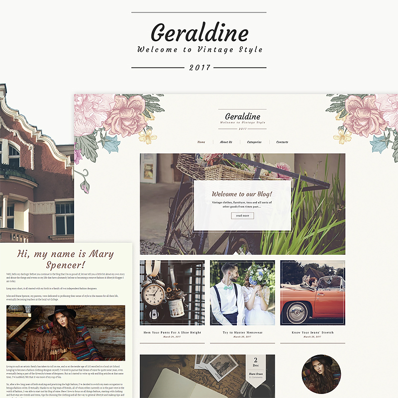 Vintage Fashion Blog WordPress Theme
