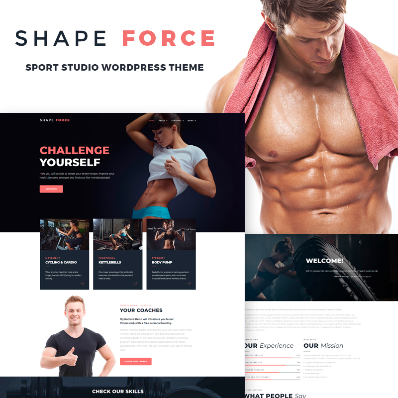 ShapeForce - Sport Studio WordPress Theme