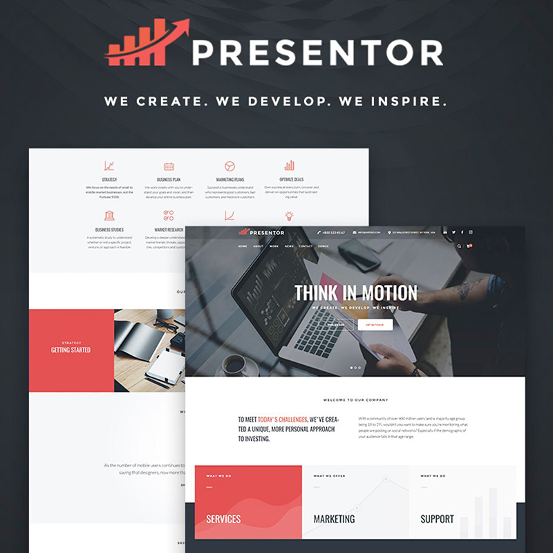 Presentor - Business Elementor WordPress Theme