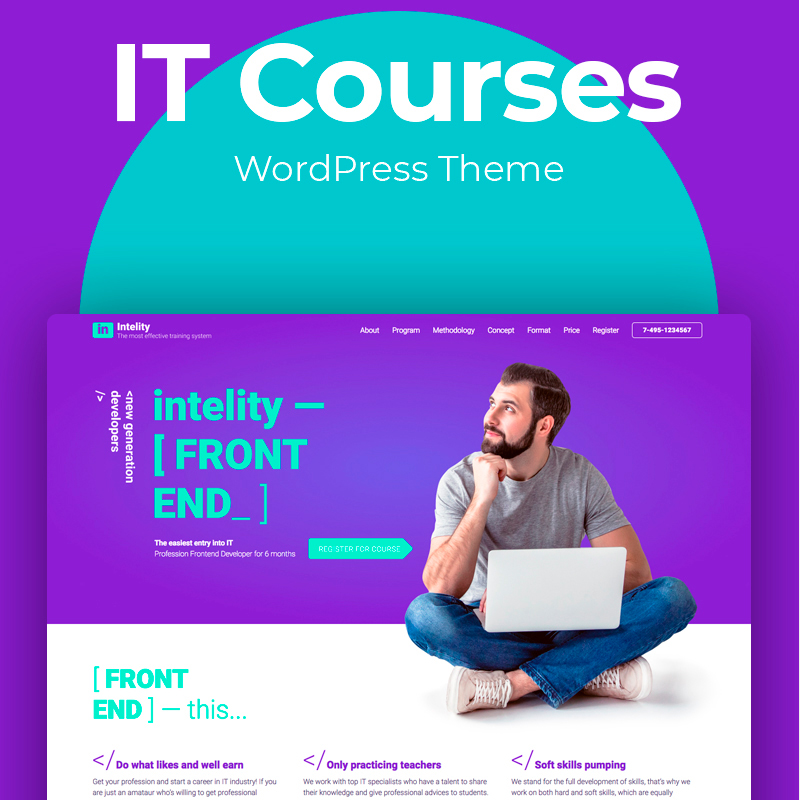 Intelity - IT Courses Elementor WordPress Theme