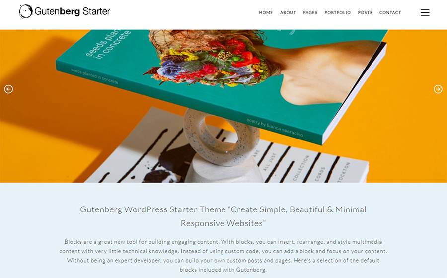 Gutenberg Starter Free WordPress Theme