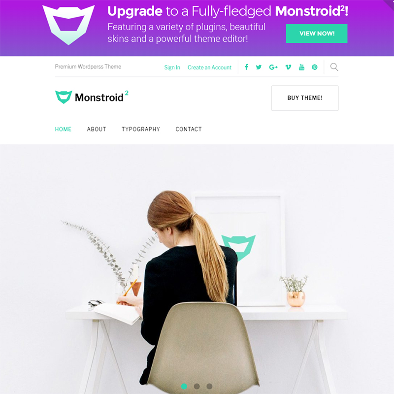 Monstroid 2 Lite - free WordPress theme WordPress Theme