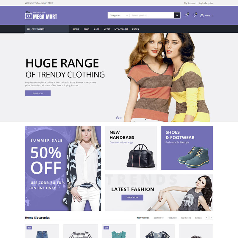 Megamart - Multi-Purpose Responsive WooCommerce Theme