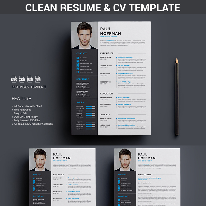 Resume/CV-Paul Hoffman Resume Template