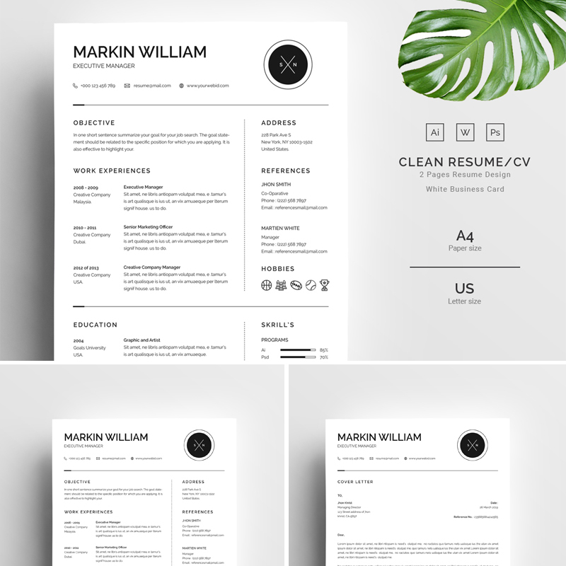 Markin William Minimal Resume Template