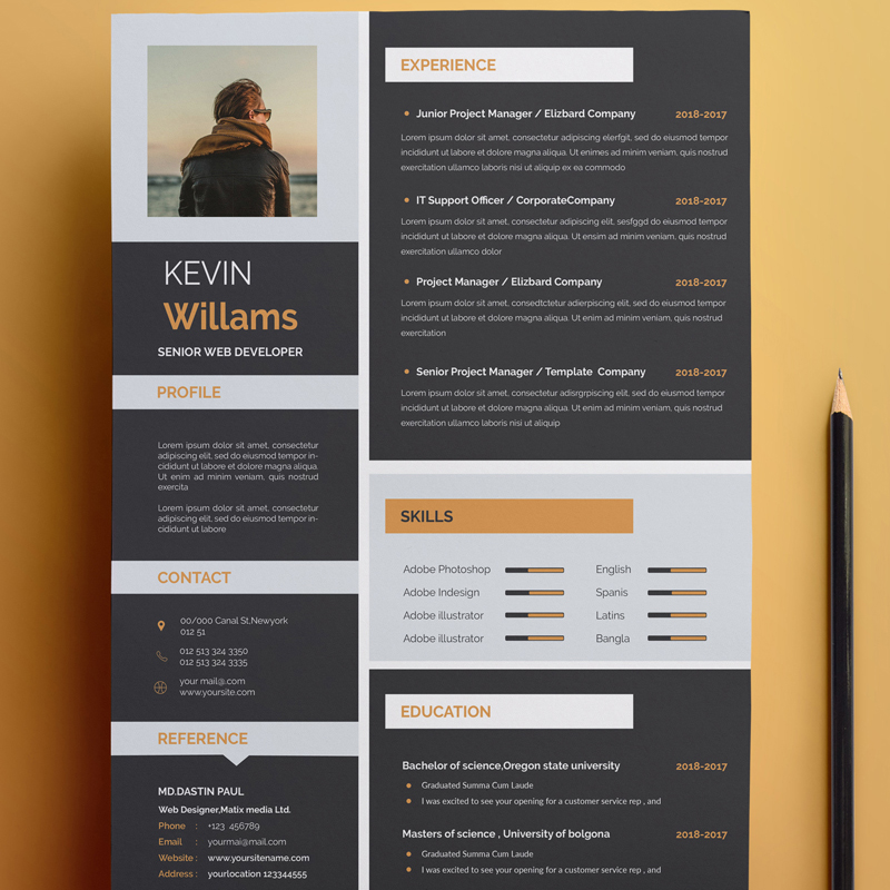 Kevin Willams - Resume Template