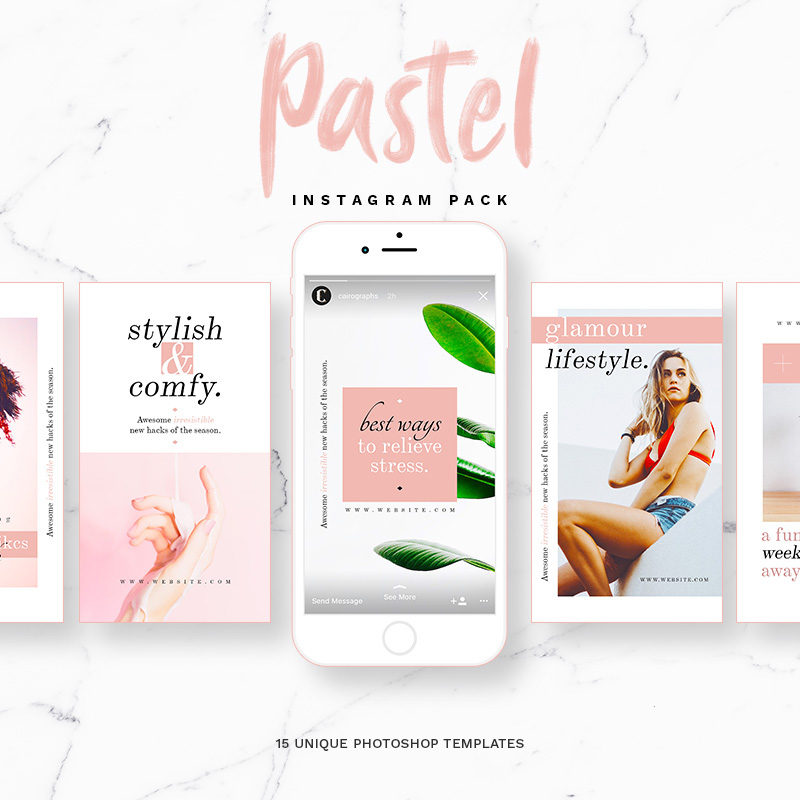 Pastel - Instagram Stories & Posts Social Media