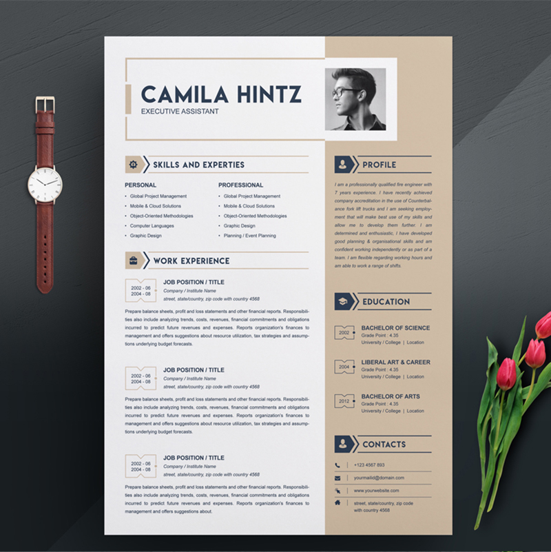 Camila Hintz Resume Template
