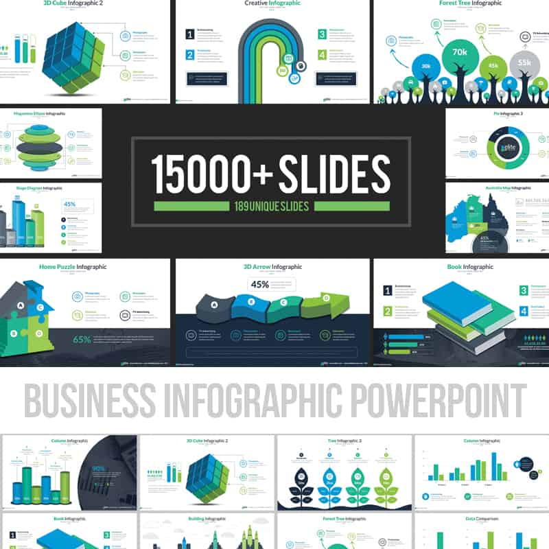 Business Infographic Presentation PowerPoint Template
